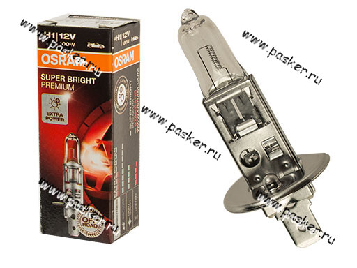 Лампа галоген 12V H1 100W P14.5s OSRAM 62200
