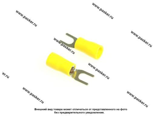 Клемма вилочная 4,3мм изолированная Nord YADA желтая 4,0-6,0мм кв