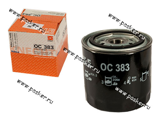 Фильтр масляный 2101-07 MAHLE OC383/OC383A
