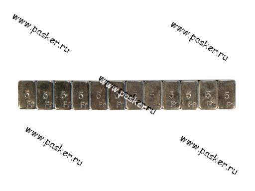 Грузик балансировочный самоклеящийся 5гр 12шт NORM цинк