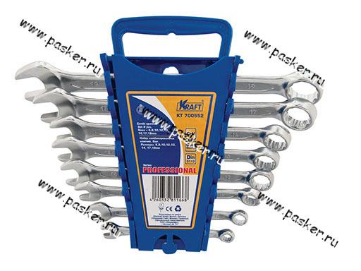 Ключи комбинированные  8 предметов 6-19 KRAFT 700552