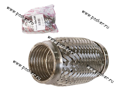 Гофра глушителя 50x120 Garde 3х слойная Interloсk G50120