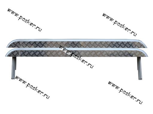 Порог-подножка дополнительный 2131 4х4 с алюминиевым листом