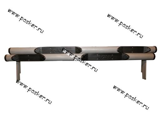 Порог-подножка дополнительный 2131 4х4 труба с простопью