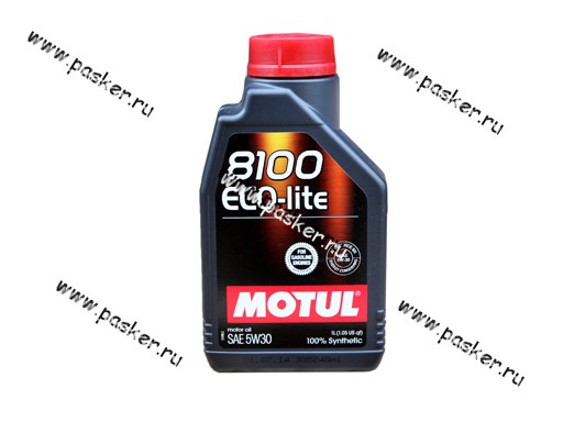 Масло Motul  5W30 8100 Eco-lite API SN/CF 1л син