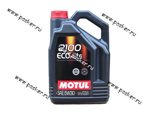 Масло Motul  5W30 8100 Eco-lite API SN/CF 5л син