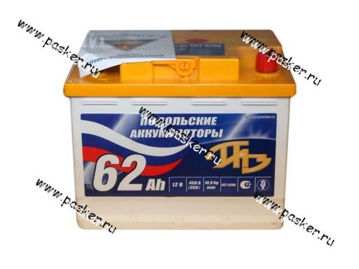 Аккумулятор Подольские Аккумуляторы 62Ач EN480/530 242х175х190 обр/п