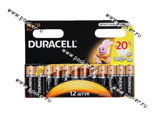 Батарейка DURACELL LR6 АА BL-12 BASIC