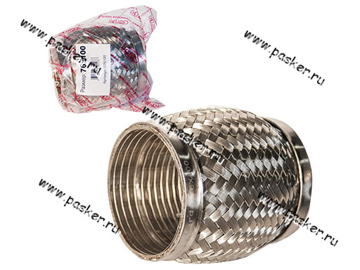 Гофра глушителя 76x100 Garde 3х слойная Interloсk G76100
