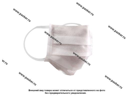 Маска для лица однослойная спанбонд 60гр тип 5 белая