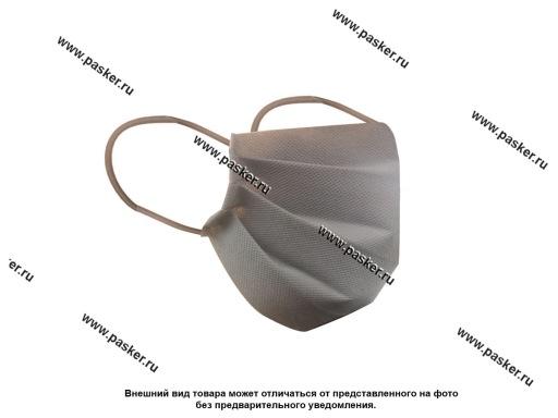 Маска для лица однослойная спанбонд 60гр тип 5 серая