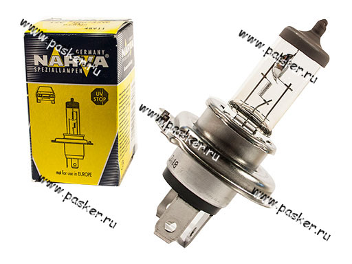 Лампа галоген 12V H4 100/55W P43t NARVA 48911