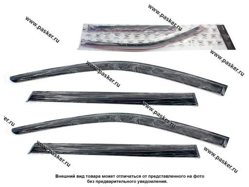 Дефлектор боковых окон 1117 Калина Voron Glass накладной 4шт