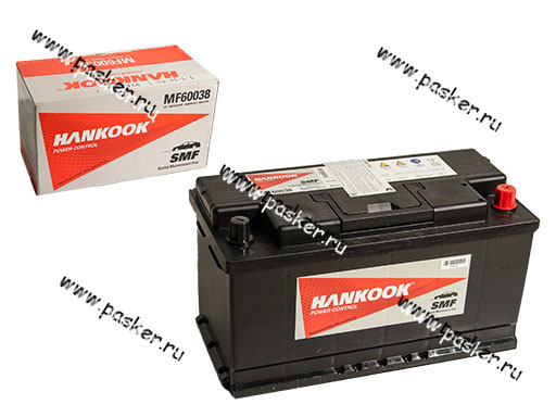 Аккумулятор HANKOOK 100Ач EN850 352x174x188 обр/п 60038  L5 MF