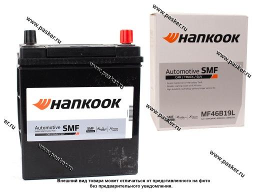 Аккумулятор HANKOOK 40Ач EN370 ASIA 186х126х225 тонк.кл обр/п 46B19L