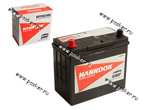 Аккумулятор HANKOOK 45Ач EN430 ASIA 237х128х225 55B24RS