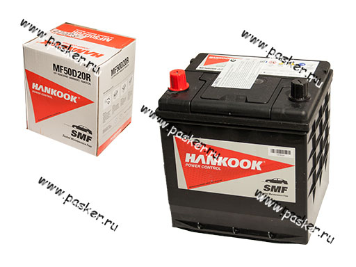Аккумулятор HANKOOK 50Ач EN450 ASIA 206х172х205 50D20R SALE