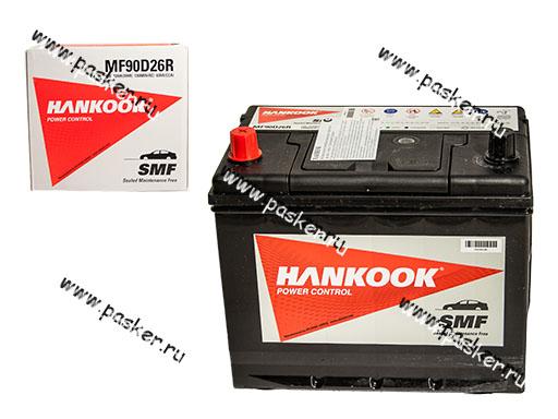 Аккумулятор HANKOOK 72Ач EN630 ASIA 260x173x225 90D26R