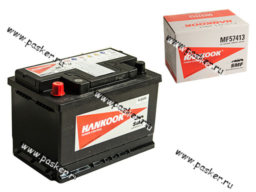 Аккумулятор HANKOOK 74Ач EN680 277x174x188 57413  L3 MF