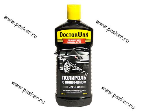 Полироль кузова Doctor Wax 8401 300мл с полифлоном черная