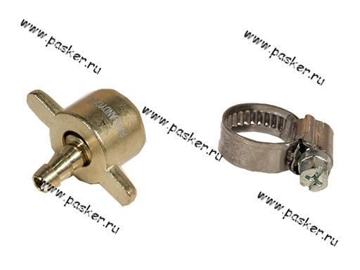 Гайка-барашек рессивера компрессора под шланг D6мм + хомут ANDYCAR