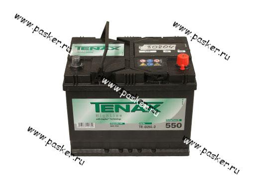 Аккумулятор TENAX 68Ач EN550 ASIA 261х175х220 высокий обр/п TE-D26L-2