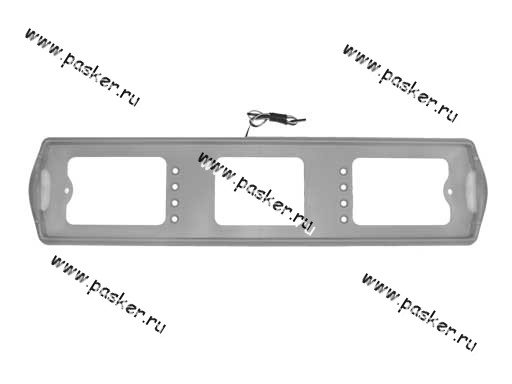 Рамка заднего номерного знака подсветка боковая серая АВ002-с