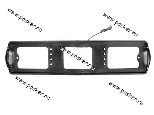 Рамка заднего номерного знака подсветка боковая черная АВ002-ч