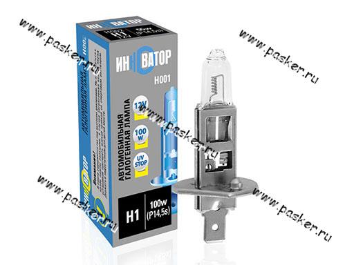Лампа галоген 12V H1 100W P14.5s Новатор/Инноватор ИН001