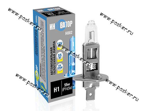 Лампа галоген 12V H1 55W P14.5s Новатор/Инноватор ИН002