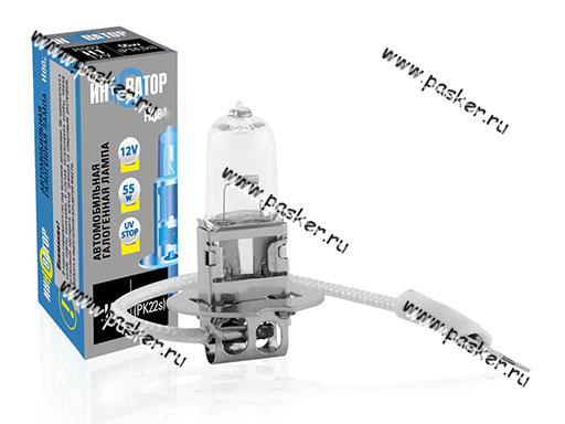 Лампа галоген 12V H3 100W Pk22s Новатор/Инноватор ИН003
