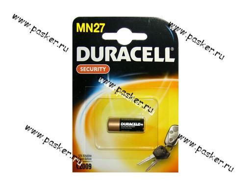 Батарейка DURACELL MN27 BL-1, 12v для брелока сигнализации