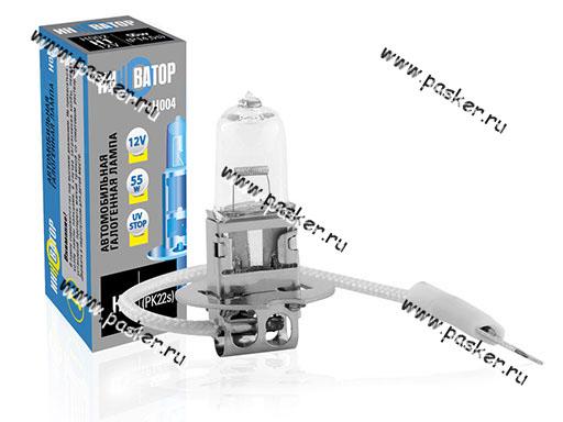 Лампа галоген 12V H3 55W Pk22s Новатор/Инноватор ИН004
