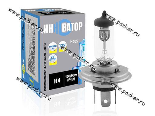 Лампа галоген 12V H4 100/90W P43t Новатор/Инноватор ИН005