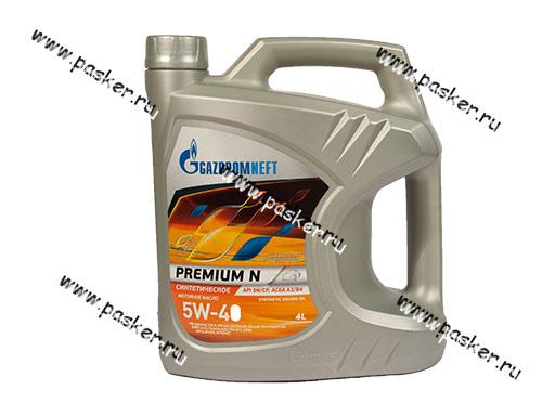 Масло Gazpromneft  5W40 Premium N API SN/CF ACEA A3/B4 4л син