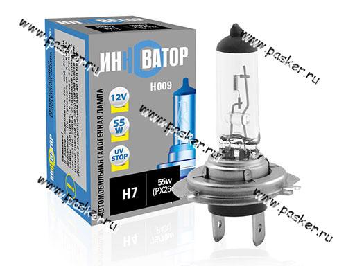Лампа галоген 12V H7 55W PX26d Новатор/Инноватор ИН009