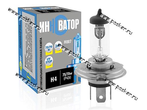 Лампа галоген 24V H4 75/70W P43t Новатор/Инноватор ИН007