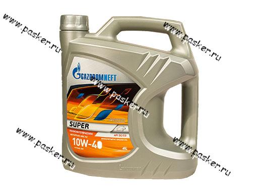 Масло Gazpromneft 10W40 Super API SG/CD 4л п/с