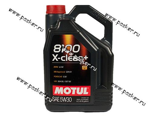 Масло Motul  5W30 8100 X-clean+ ACEA C3 LL-04 M 5л син