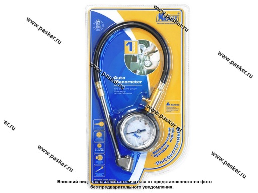 Манометр аналоговый со шлангом KRAFT 830003