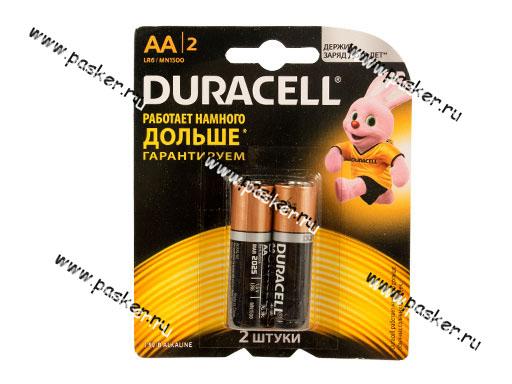 Батарейка DURACELL LR6 AA BL-2