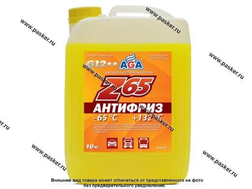 Антифриз AGA-65 044Z 10кг желтый