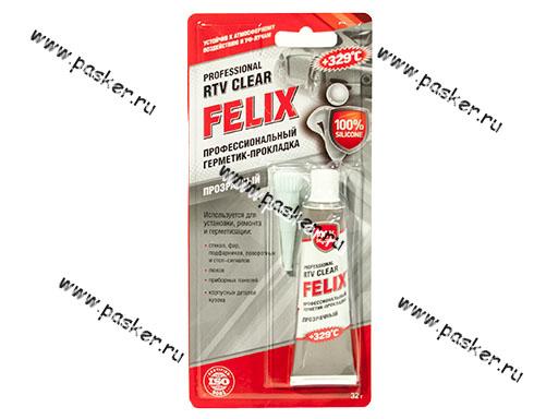 Герметик FELIX 32гр высокотемпературный прозрачный