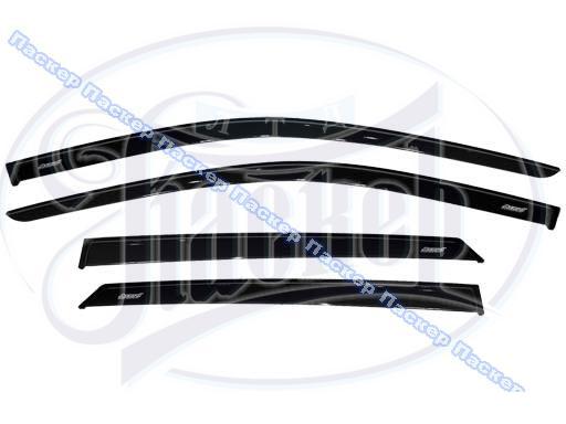 Дефлектор боковых окон 1118 Калина, 2190 Granta накладной 4шт