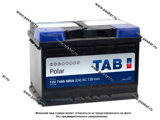 Аккумулятор TAB Polar SMF 74.1 Ач EN680 278х175х190