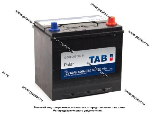 Аккумулятор TAB Polar 60.0 Ач EN600 ASIA 230х170х220 обр/п 56068