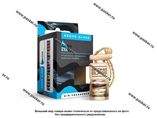 Ароматизатор Aroma Glass бутылочка 42г black water and ice air AG-07