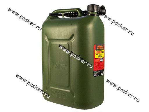 Канистра 25л пластик с наливным устройством для ГСМ Garde усиленая зелено-оливковая