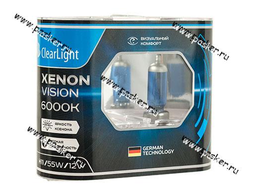 Лампа галоген 12V H11 55W PGJ19-2 ClearLight XenonVision MLH11XV 6000К