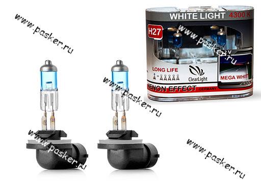 Лампа галоген 12V H27 27W PG13 ClearLight WhiteLight MLH27WL 4300К